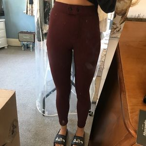 American Apparel Riding Pants in Burgundy Size L